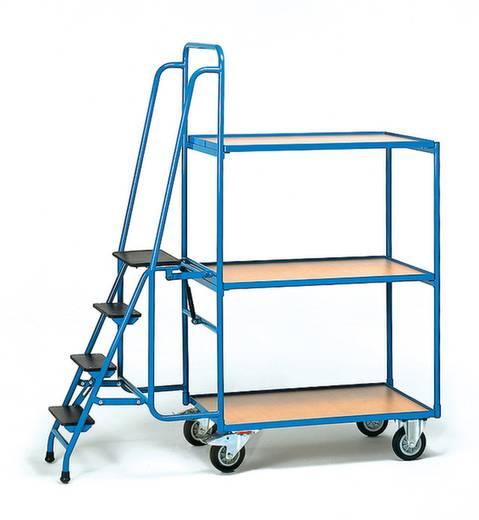 Kommissionierwagen Stahl pulverbeschichtet Traglast (max.): 250 kg Brillantblau (RAL 5007) Fetra 2107