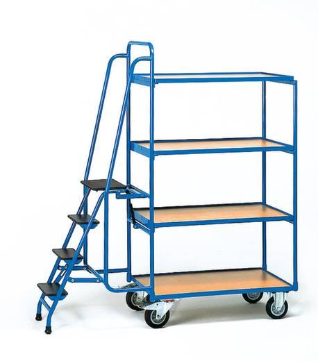 Kommissionierwagen Stahl pulverbeschichtet Traglast (max.): 400 kg Brillantblau (RAL 5007) Fetra 2108