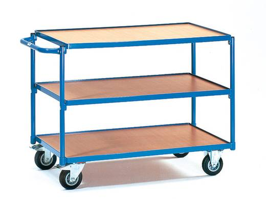 Tischwagen Stahl pulverbeschichtet Traglast (max.): 250 kg Brillantblau (RAL 5007) Fetra 2950