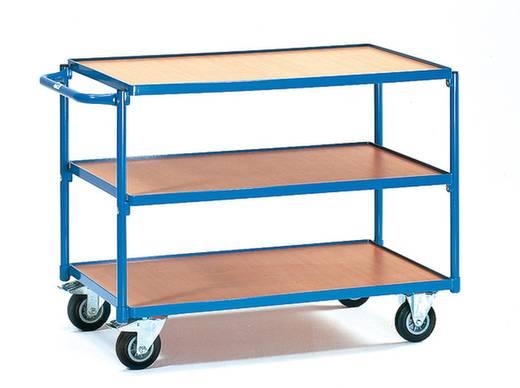 Tischwagen Stahl pulverbeschichtet Traglast (max.): 250 kg Brillantblau (RAL 5007) Fetra 2952