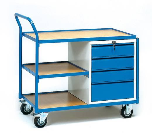 Fetra 2634 Tisch- und Schrankwagen Stahl pulverbeschichtet Traglast (max.): 250 kg Brillantblau (RAL 5007)