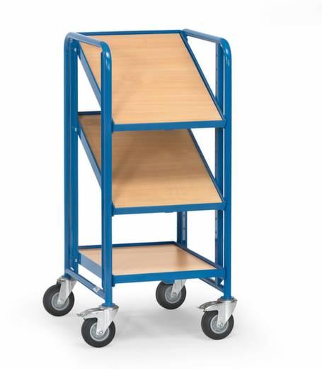 Fetra 2381 Etagenwagen Stahl pulverbeschichtet Traglast (max.): 250 kg Brillantblau (RAL 5007)