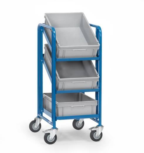 Eurokastenwagen Stahl pulverbeschichtet Traglast (max.): 200 kg Brillantblau (RAL 5007) Fetra 2382