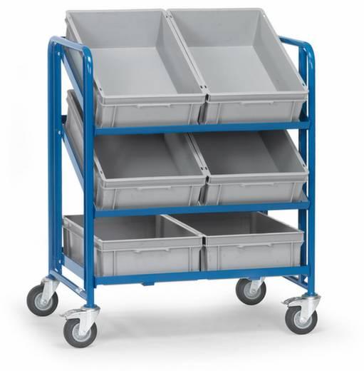 Eurokastenwagen Stahl pulverbeschichtet Traglast (max.): 200 kg Brillantblau (RAL 5007) Fetra 2392