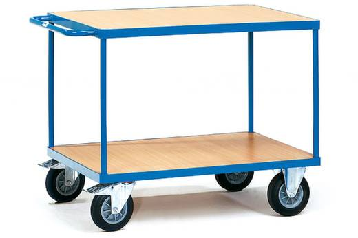 Tischwagen Stahl pulverbeschichtet Traglast (max.): 500 kg Brillantblau (RAL 5007) Fetra 2401
