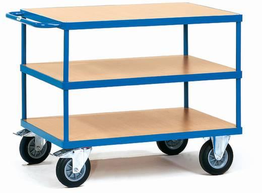 Tischwagen Stahl pulverbeschichtet Traglast (max.): 500 kg Brillantblau (RAL 5007) Fetra 2422