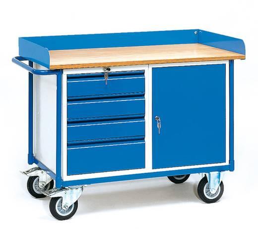 Fetra 2438 Tisch- und Schrankwagen Stahl pulverbeschichtet Traglast (max.): 400 kg Brillantblau (RAL 5007)