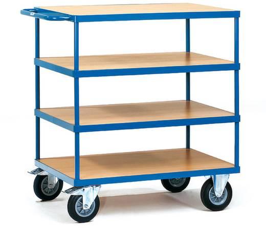 Tischwagen Stahl pulverbeschichtet Traglast (max.): 500 kg Brillantblau (RAL 5007) Fetra 2442