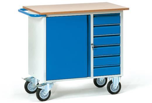Fetra 2450 Tisch- und Schrankwagen Stahl pulverbeschichtet Traglast (max.): 400 kg Brillantblau (RAL 5007)