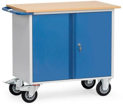 Fetra 2456 Tisch- und Schrankwagen Stahl pulverbeschichtet Traglast (max.): 400 kg Brillantblau (RAL 5007)