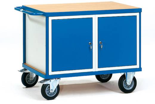 Fetra 2475 Tisch- und Schrankwagen Stahl pulverbeschichtet Traglast (max.): 500 kg Brillantblau (RAL 5007)