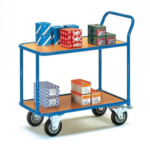 Fetra 2602 Tischwagen Stahl pulverbeschichtet Traglast (max.): 400 kg Brillantblau (RAL 5007)