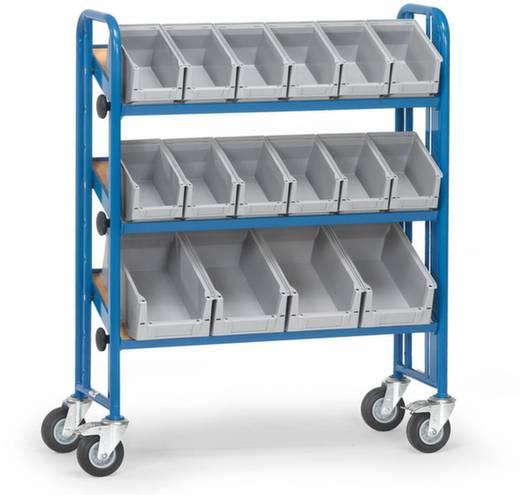 Etagenwagen Stahl pulverbeschichtet Traglast (max.): 250 kg Brillantblau (RAL 5007) Fetra 2882