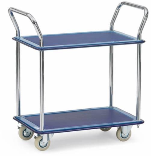 fetra 3112 etagenwagen stahl pulverbeschichtet traglast max 120 kg brillantblau ral 5007. Black Bedroom Furniture Sets. Home Design Ideas