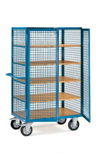 Schrankwagen Stahl pulverbeschichtet Traglast (max.): 750 kg Brillantblau (RAL 5007) Fetra 4392
