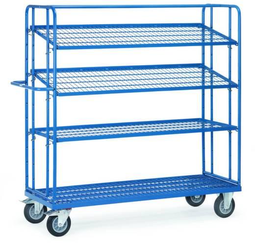 Fetra 4496 Etagenwagen Stahl pulverbeschichtet Traglast (max.): 400 kg Brillantblau (RAL 5007)