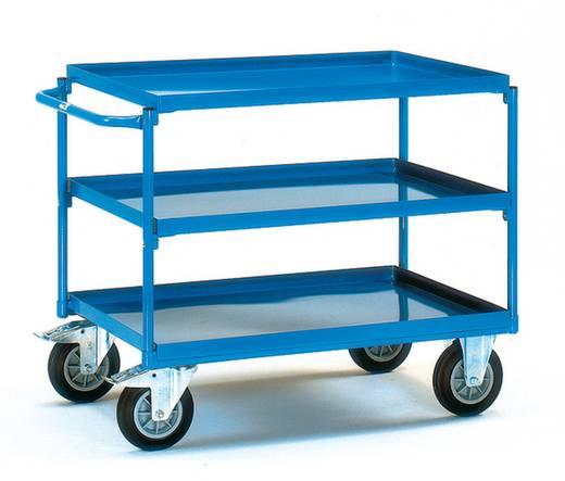 Fetra 4830 Tischwagen Stahl pulverbeschichtet Traglast (max.): 400 kg Brillantblau (RAL 5007)