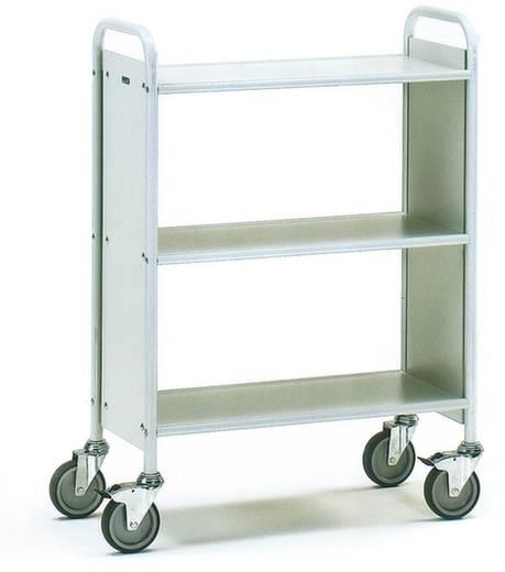 Bürowagen Stahl pulverbeschichtet Traglast (max.): 150 kg Lichtgrau (RAL 7035) Fetra 4870