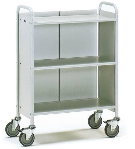 Bürowagen Stahl pulverbeschichtet Traglast (max.): 150 kg Lichtgrau (RAL 7035) Fetra 4871