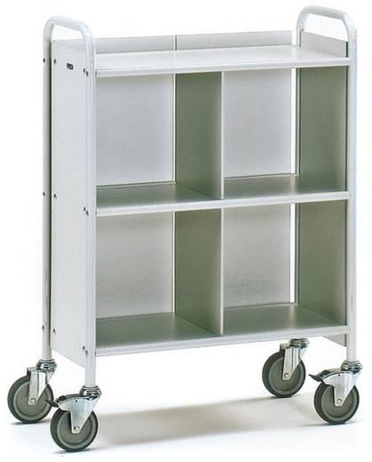 Bürowagen Stahl pulverbeschichtet Traglast (max.): 150 kg Lichtgrau (RAL 7035) Fetra 4873