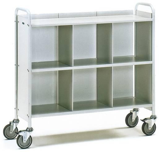 Bürowagen Stahl pulverbeschichtet Traglast (max.): 150 kg Lichtgrau (RAL 7035) Fetra 4878