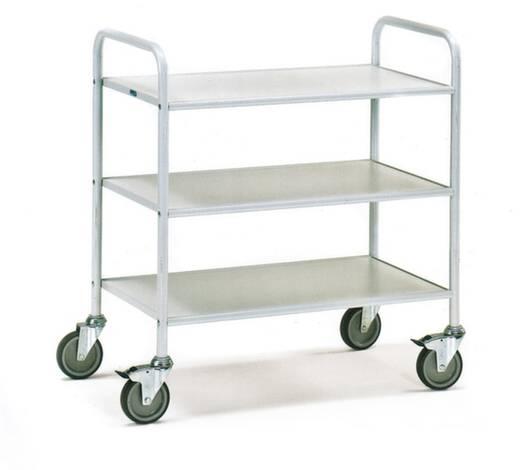 etagenwagen stahl pulverbeschichtet traglast max 150 kg lichtgrau ral 7035 fetra 4882 kaufen. Black Bedroom Furniture Sets. Home Design Ideas