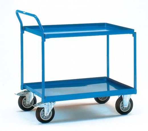 Tischwagen Stahl pulverbeschichtet Traglast (max.): 400 kg Brillantblau (RAL 5007) Fetra 4922