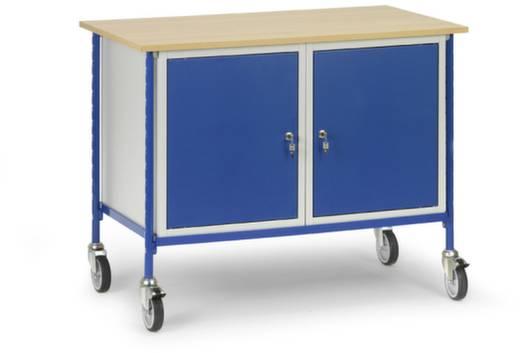 Fetra 5868 Tisch- und Schrankwagen Stahl pulverbeschichtet Traglast (max.): 150 kg Brillantblau (RAL 5007)