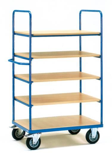 Etagenwagen Stahl pulverbeschichtet Traglast (max.): 500 kg Brillantblau (RAL 5007) Fetra 8343