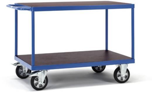 Tischwagen Stahl pulverbeschichtet Traglast (max.): 1200 kg Brillantblau (RAL 5007) Fetra 12402