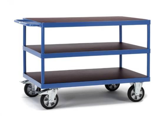Tischwagen Stahl pulverbeschichtet Traglast (max.): 1200 kg Brillantblau (RAL 5007) Fetra 12425