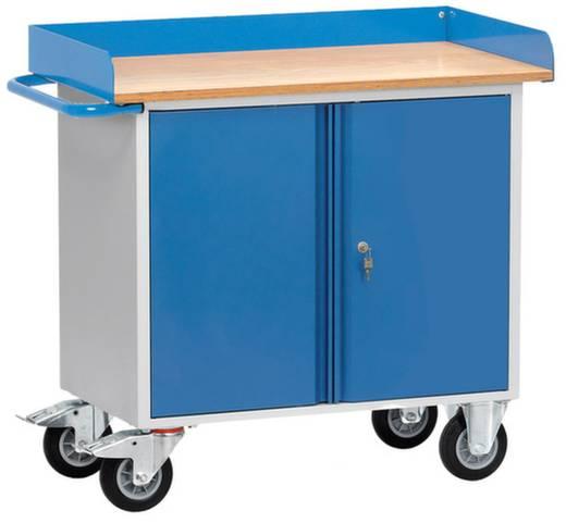Fetra 12456 Tisch- und Schrankwagen Stahl pulverbeschichtet Traglast (max.): 400 kg Brillantblau (RAL 5007)