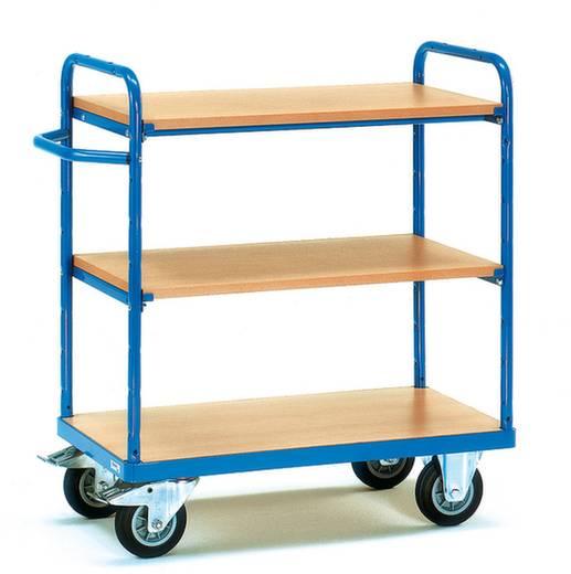 Fetra 8100 Etagenwagen Stahl pulverbeschichtet Traglast (max.): 400 kg Brillantblau (RAL 5007)