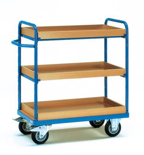 Fetra 8123 Etagenwagen Stahl pulverbeschichtet Traglast (max.): 500 kg Brillantblau (RAL 5007)