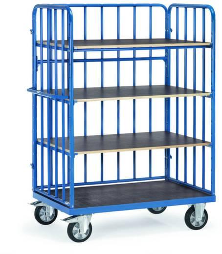 Etagenwagen Stahl pulverbeschichtet Traglast (max.): 1200 kg Brillantblau (RAL 5007) Fetra 18313-1