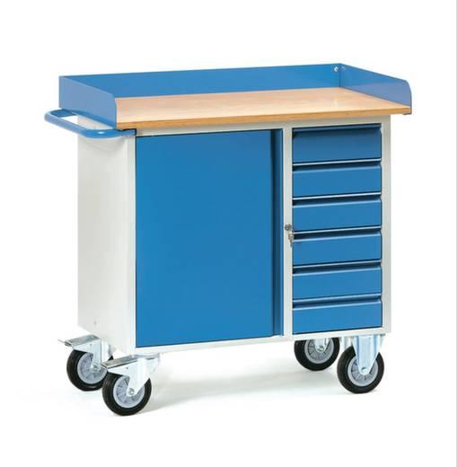 Fetra 12450 Tisch- und Schrankwagen Stahl pulverbeschichtet Traglast (max.): 400 kg Brillantblau (RAL 5007)