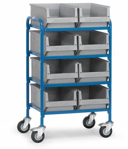 Fetra 32931 Etagenwagen Stahl pulverbeschichtet Traglast (max.): 250 kg Brillantblau (RAL 5007)