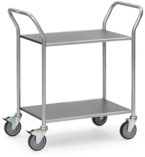 Servierwagen Stahl pulverbeschichtet Traglast (max.): 100 kg Weißaluminium (RAL 9006) Fetra 5042