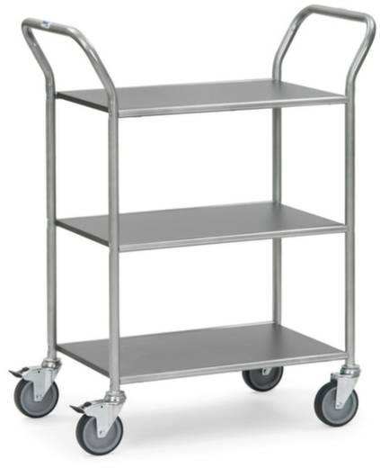 Servierwagen Stahl pulverbeschichtet Traglast (max.): 100 kg Weißaluminium (RAL 9006) Fetra 5043