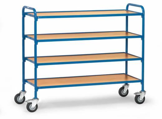 Etagenwagen Stahl pulverbeschichtet Traglast (max.): 250 kg Brillantblau (RAL 5007) Fetra 32950
