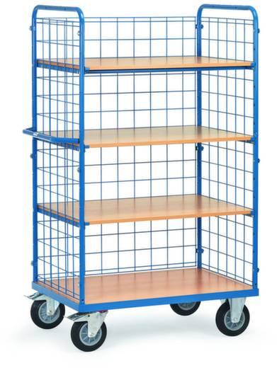 Etagenwagen Stahl pulverbeschichtet Traglast (max.): 500 kg Brillantblau (RAL 5007) Fetra 8412-1