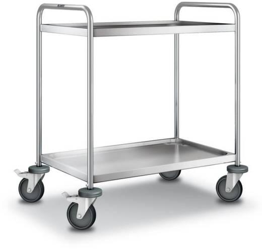 555527 Etagenwagen Edelstahl Traglast (max.): 120 kg Edelstahl