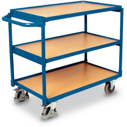 Tischwagen Stahl pulverbeschichtet Traglast (max.): 250 kg Enzianblau (RAL 5010) VARIOfit SW-600.601
