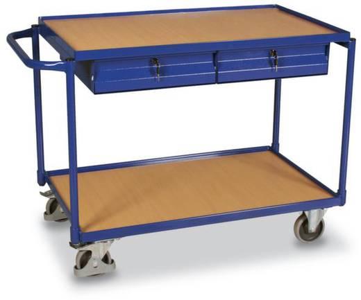 Tischwagen Stahl pulverbeschichtet Traglast (max.): 250 kg Enzianblau (RAL 5010) VARIOfit SW-600.504