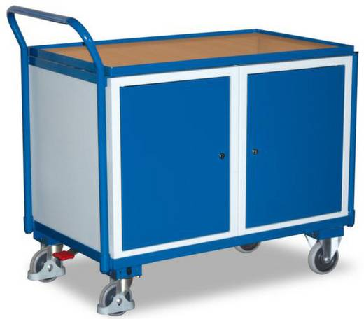 Tisch- und Schrankwagen Stahl pulverbeschichtet Traglast (max.): 250 kg Enzianblau (RAL 5010) VARIOfit SW-600.604