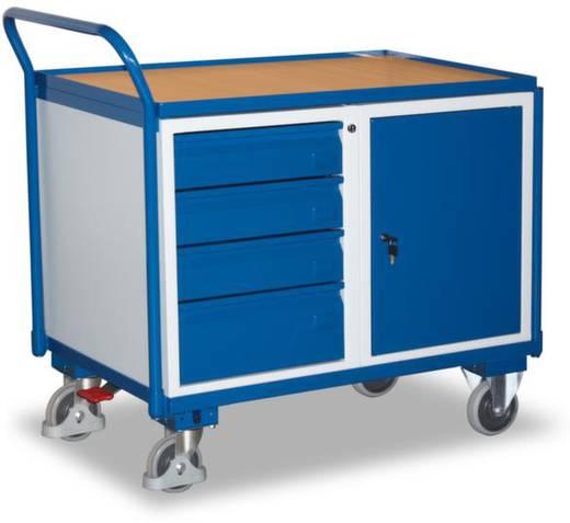 Tisch- und Schrankwagen Stahl pulverbeschichtet Traglast (max.): 250 kg Enzianblau (RAL 5010) VARIOfit SW-600.606