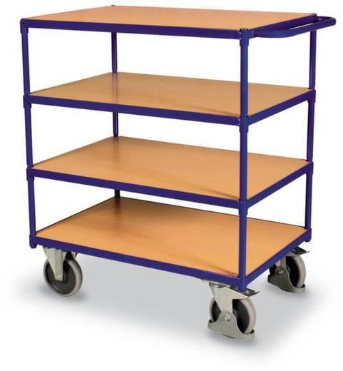 VARIOfit SW-800.700 Tischwagen Stahl pulverbeschichtet Traglast (max.): 500 kg Enzianblau (RAL 5010)