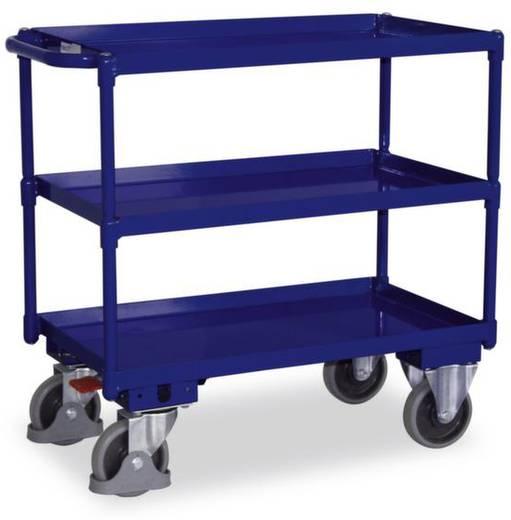 Tischwagen Stahl pulverbeschichtet Traglast (max.): 400 kg Enzianblau (RAL 5010) VARIOfit SW-700.610