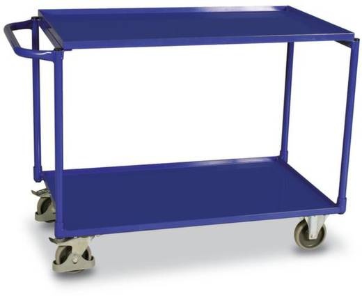 Tischwagen Stahl pulverbeschichtet Traglast (max.): 250 kg Enzianblau (RAL 5010) VARIOfit SW-600.506