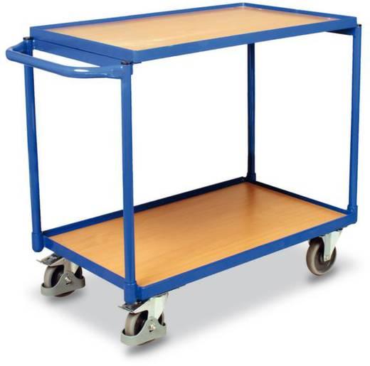Tischwagen Stahl pulverbeschichtet Traglast (max.): 250 kg Enzianblau (RAL 5010) VARIOfit SW-500.501
